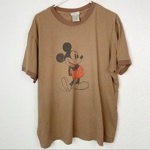 Disneyland Men's Brown Crewneck Shirt XL